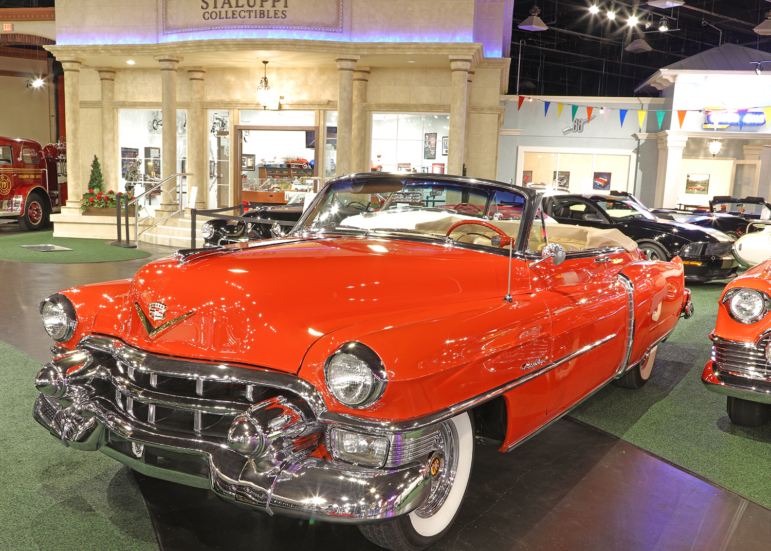Car Collection Welcome To Cars Of Dreams Museum 1953 Pontiac Star Chief Cadillac Series 62 Convertible